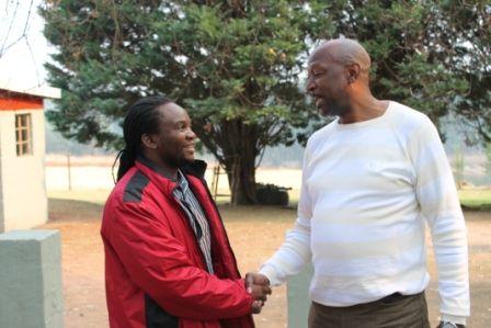 Les Moeti, Race Director #MandelaMarathon, with Brian Zuma, Chief of Marketing & Comms uMsunduzi Municipality
