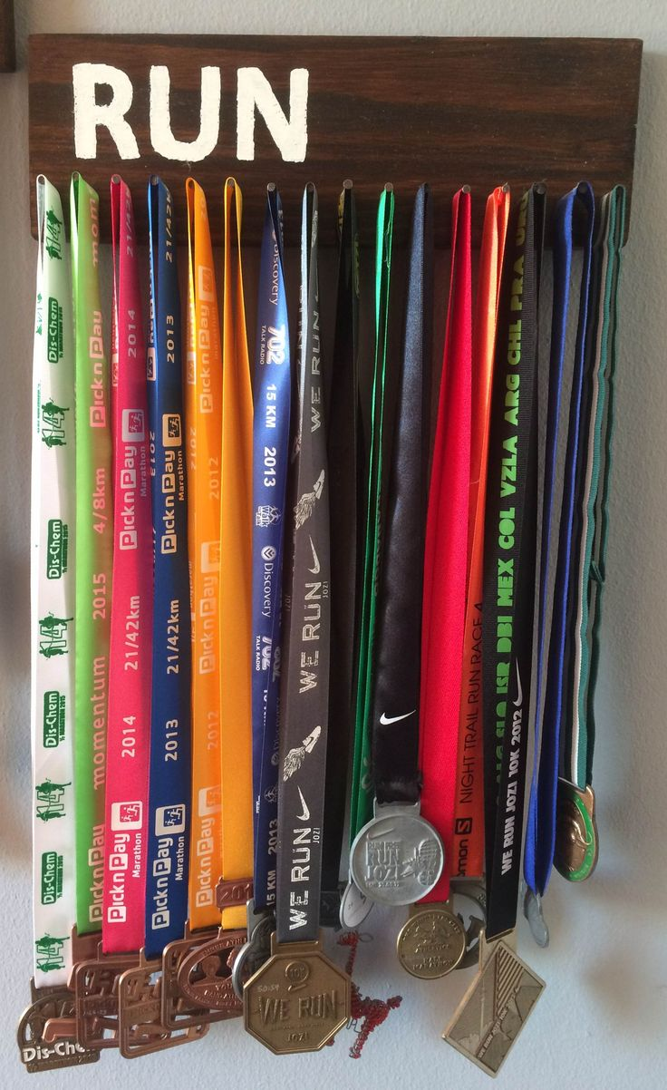 Easy DIY medal hanger to display your race medals in your home.