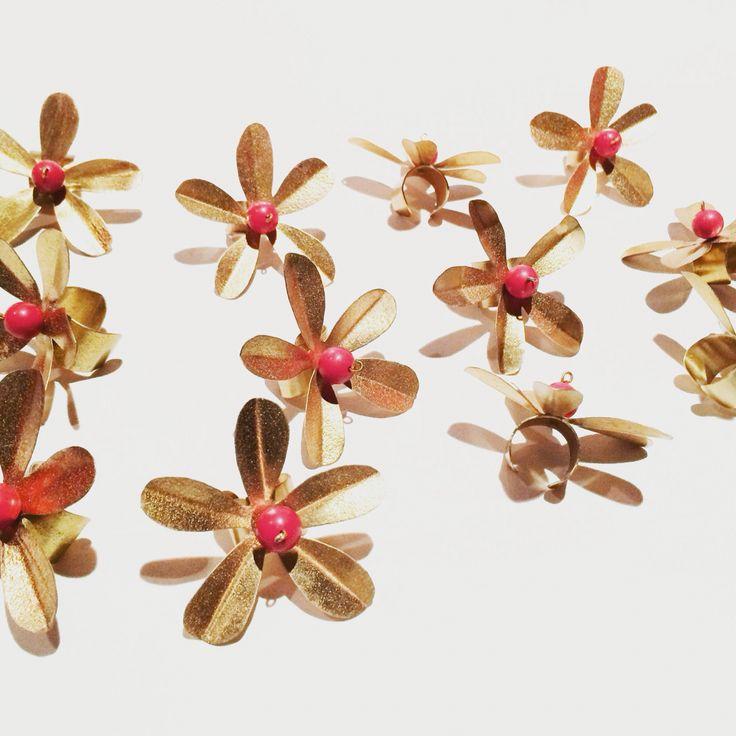 Anillos Flores corales