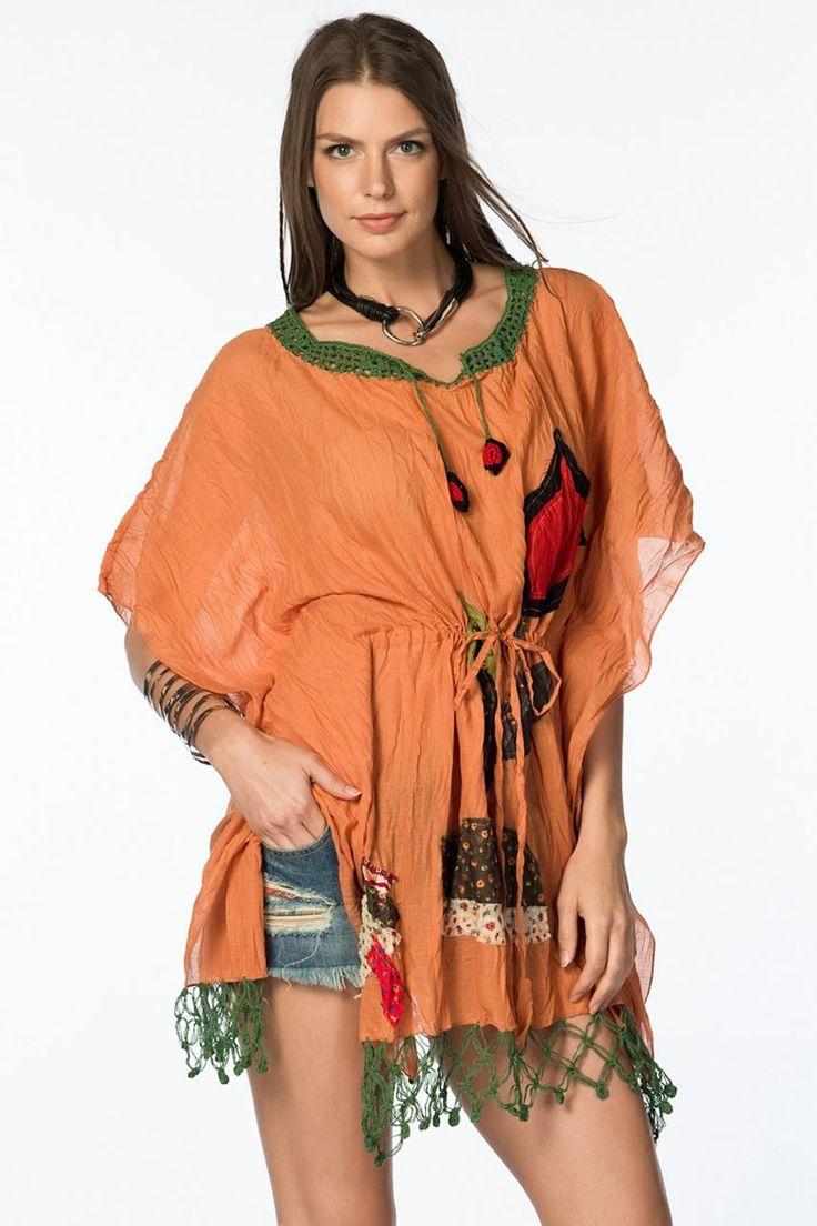 Otantik Alaçatı Panço - Orange