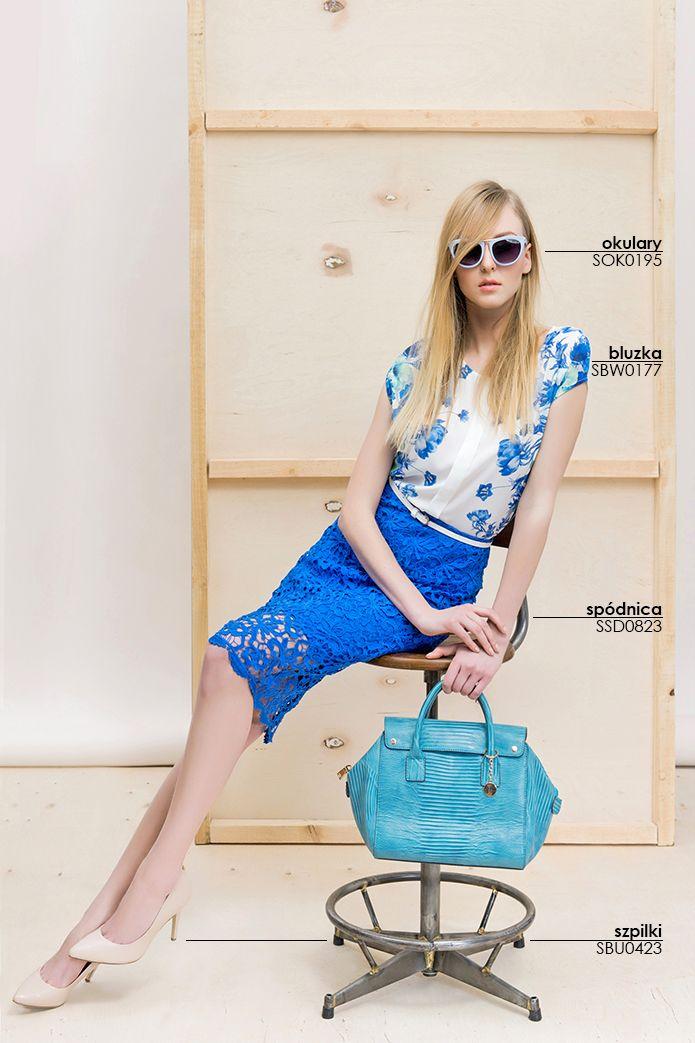 Elegancka stylizacja w kwiaty z #koronkową spódnicą #topsecret