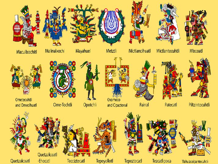 Religion Mayas Si la religion maya reste en grande partie obscure, on sait néanmoins qu'ils croyaient que lecosmosétait séparé en trois entités différentes: le monde inférieur, la terre et le ciel. Les divinité sont Ah Mun, Ah Puch, Buluc Chabtan, Camazotz, Chac, Ek Chuah, Gucumatz, Huracan, Itzamna, Ixchel, Ixtab, K'inich Ajaw, Kukulkan, Monstres Witz, Tohil, Vucub Caquix, Xmucane, Zipacna, Yum Kaax
