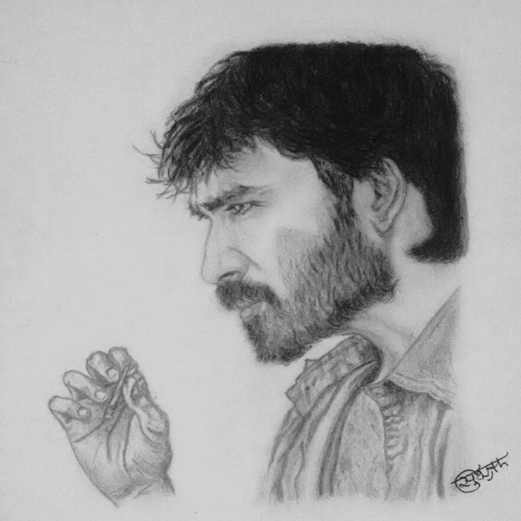 Sketch Images For Drawing: Pencil Sketch Of Dhanush, One Of My Favourite Actor