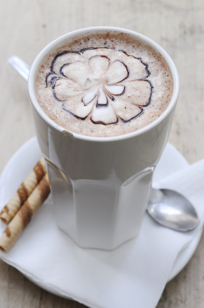 hot milk with chocolate #hot #drink #cocoa
