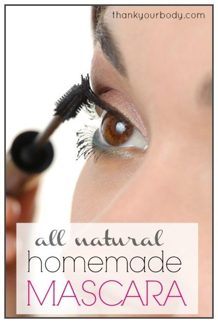 No mascara?  Don't you worry dear you can make your own homemade mascara yourself. Try it!
