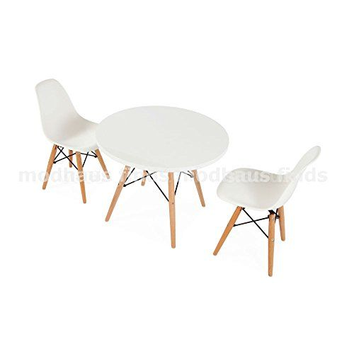 Attractive Mid Century Modern Eames DSW Style Kids Round Play Table U0026 2 Chair Set With  Choice Of Colors On Chairs   HIGH QUALITY Satin Finish ModHaus Http://wu2026