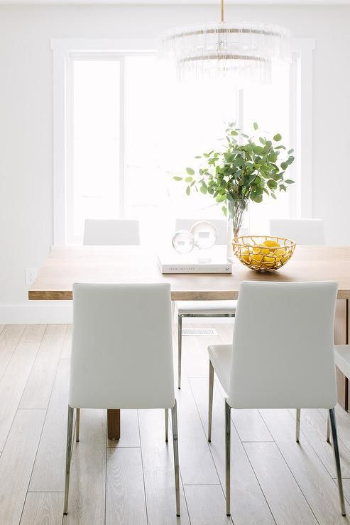 Best White Leather Dining Chairs Ideas On Pinterest
