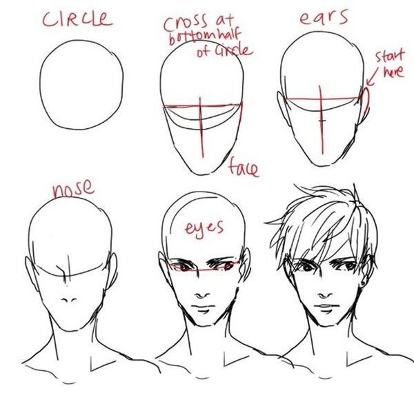 How To Draw Hair Step By Step Image Guides Lipdrawing Male Face Drawing How To Draw Hair Guy Drawing