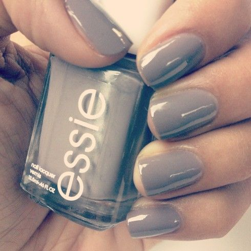 Grey is a great neutral...possible wedding nails?