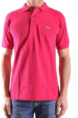 Lacoste Men's Fuchsia Cotton Polo Shirt.