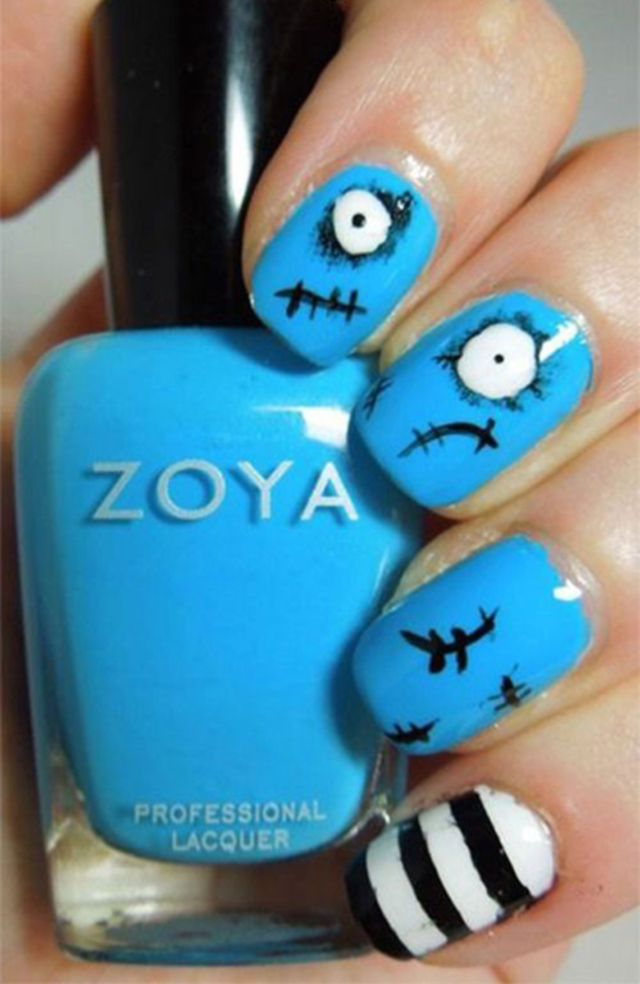 simple-Halloween-nail-art-design-ideas | French Manicure