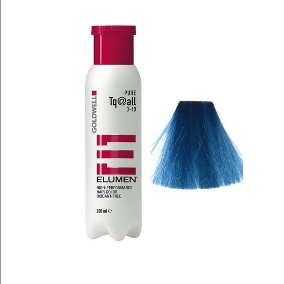 Goldwell Elumen Hair Color TQ@ALL Turquoise Blue 6.7 oz / 200ml amonia free  #Goldwell