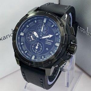 Jam Tangan Alexandre Christie AC 6390 Full Black White