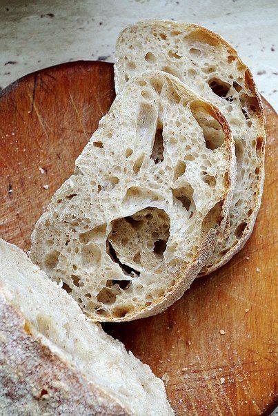 Чабатта на цельнозерновой пшенично-ржаной закваске - lenkazhestyanka