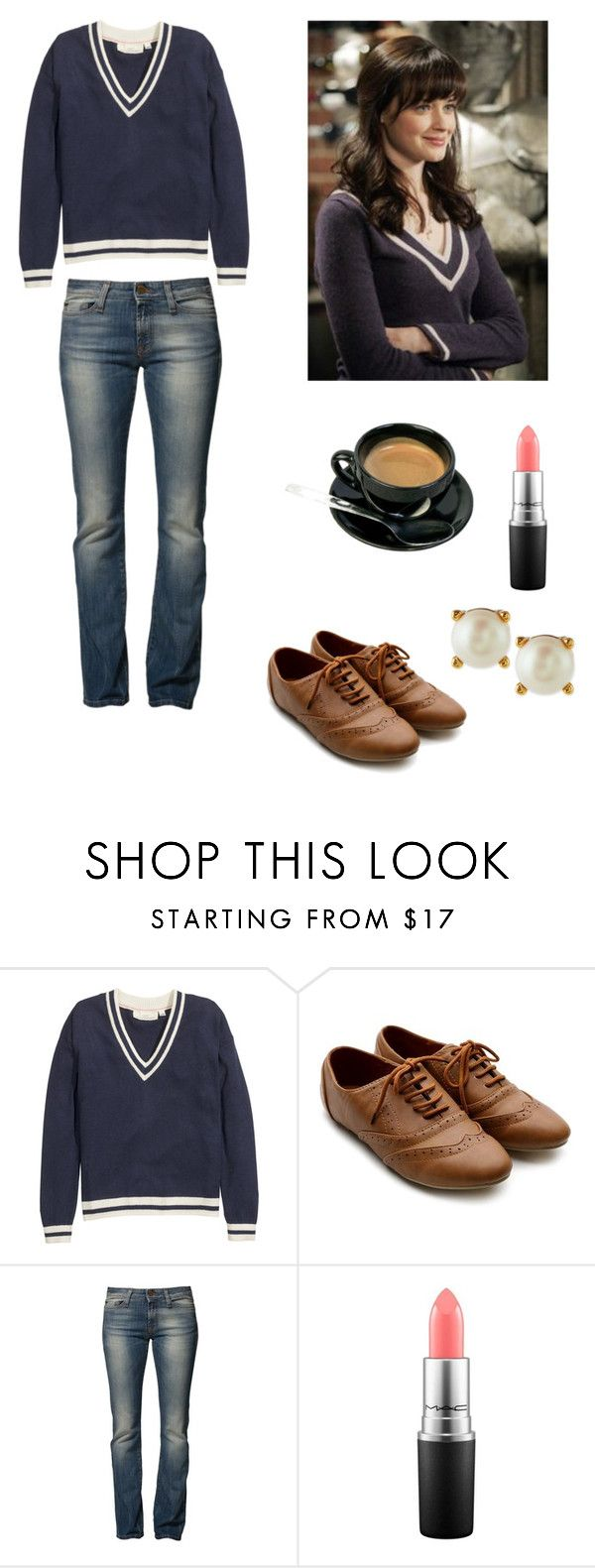 """Rory Gilmore"" by class-and-style ❤ liked on Polyvore featuring H&M, Ollio, Miss Sixty, MAC Cosmetics and Kate Spade"
