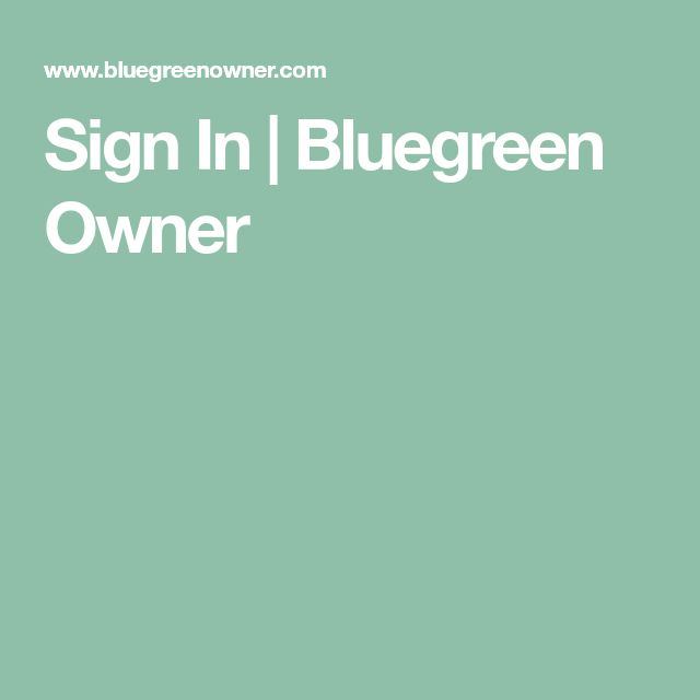 bluegreenowner sign in