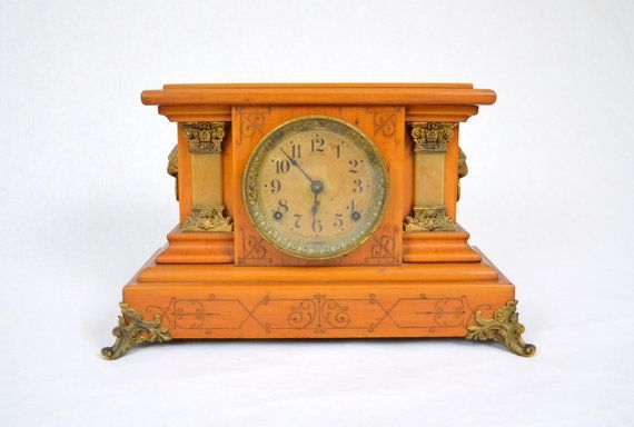 Antique Seth Thomas Adamantine Mantel Clock by LuccaBalesVintage, $150.00