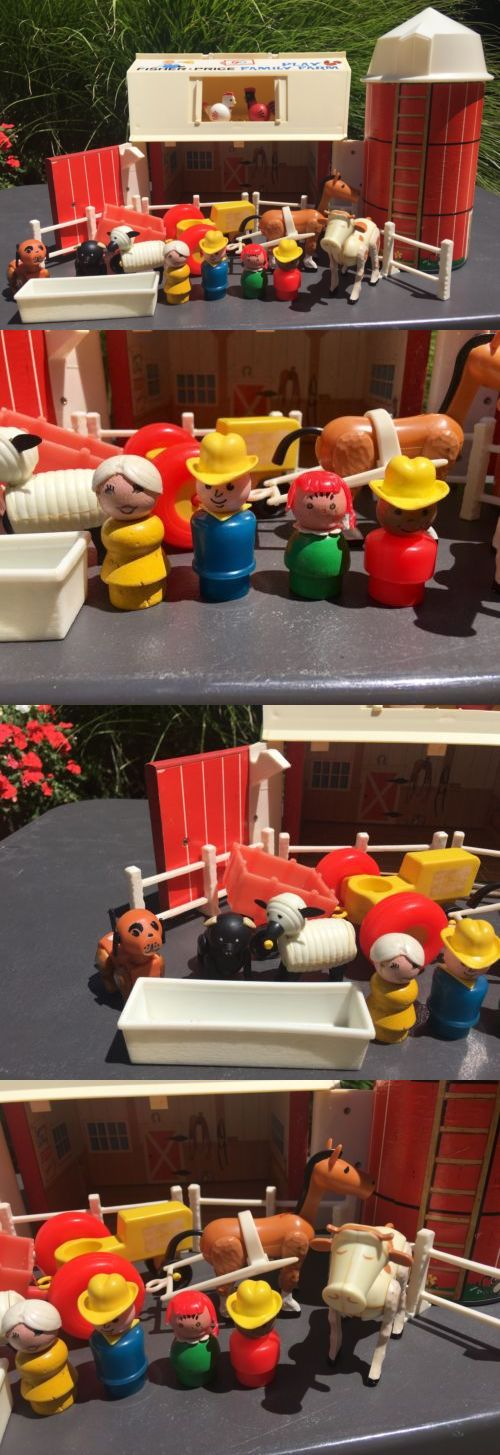 Little People 1963-1996 2527: Vintage Fisher Price Little People Play Family Farm # 915 Complete Set -> BUY IT NOW ONLY: $99.95 on eBay!
