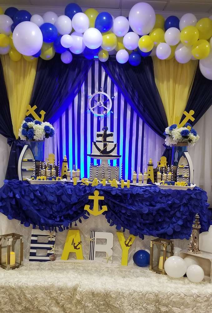 Nautical Baby Shower Baby Shower Party Ideas Nautical Baby