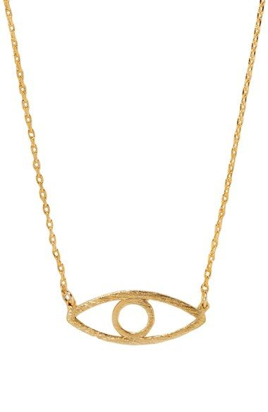 Wanderlust + Co 'Evil Eye' Necklace available at #Nordstrom