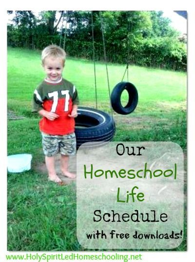Our Homeschool Life Schedule with Free Downloads