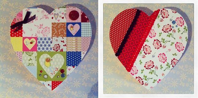 El taller de Naidú: Corazón de madera decorado.