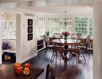 kitchen bench seating replace fluorescent light fixture in love the bump out with all windows | ideas for ...
