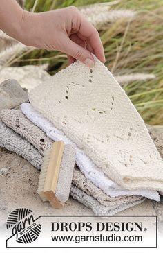 Tons de Areia Toalhetes - ponto de costura e renda - padrão livre @ DROPS Design Th ...