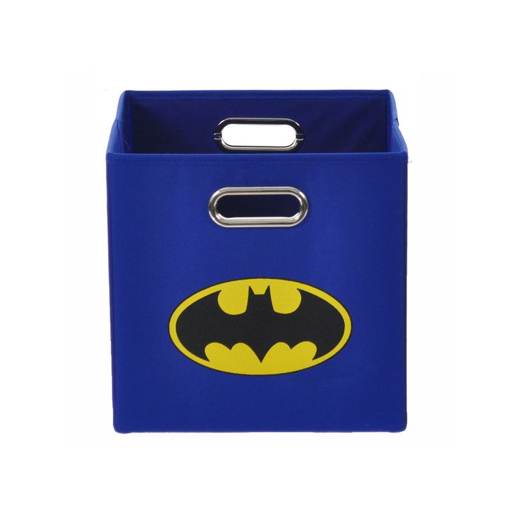 Batman Logo Collapsible Storage Bin, Blue