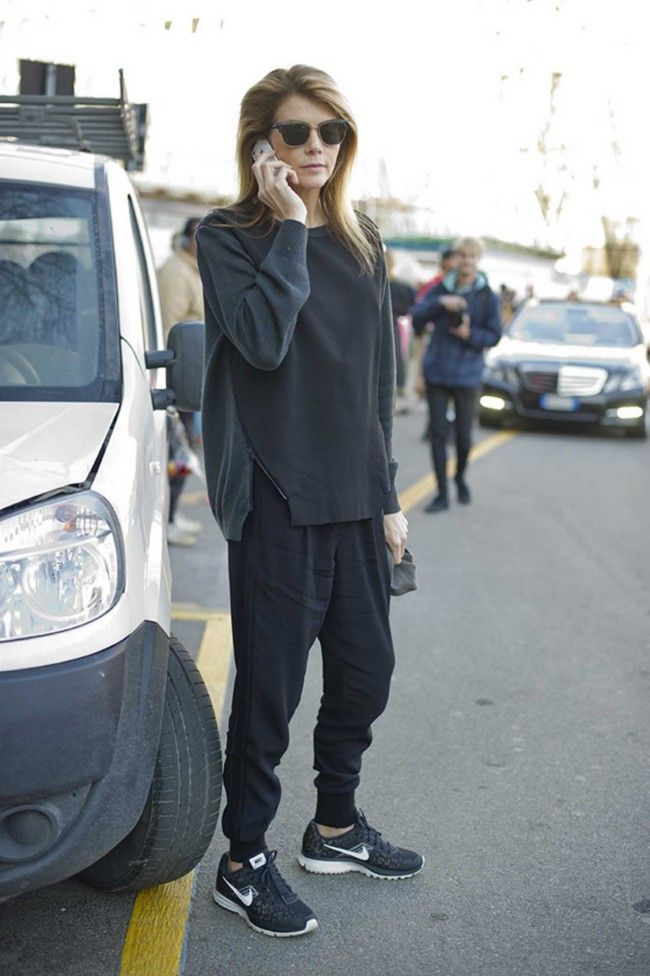 not loving that leopard nike but all black slouch grunge lovee