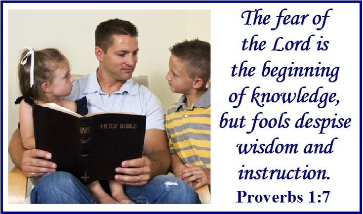 The fear of the Lord is the beginning of knowledge, but fools despise wisdom and instruction. Proverbs 1:7 Proverbs tells us that the path to wisdom starts with a fear of the Lord.