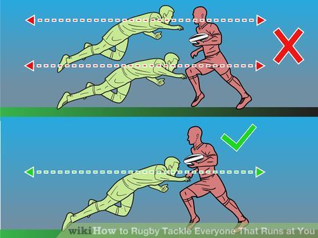 Image titled Rugby Tackle Everyone That Runs at You Step 4