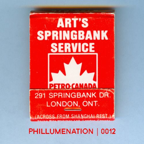 #Phillumenation 0012 : Art's Springbank Service   London, Ontario, Canada