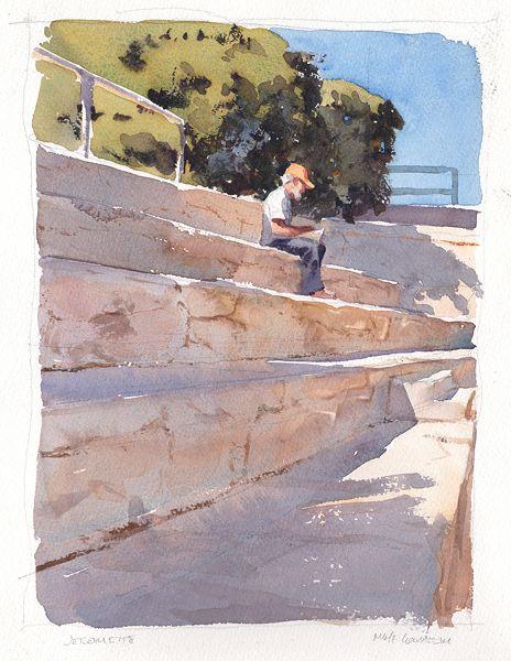 Jeromite by Mike Kowalski Watercolor ~  x