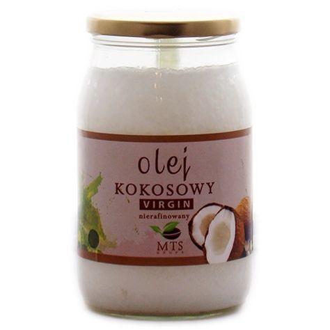 Olej kokosowy 900ml - tłoczony na zimno - MTS
