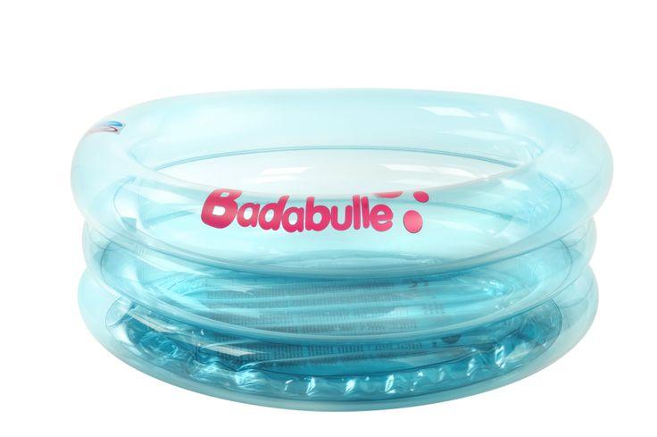 Baignoire gonflable Lagon Badabulle : idéale pour partir en vacances et pour une utilisation en mini-piscine l'été pour faire patauger bébé !