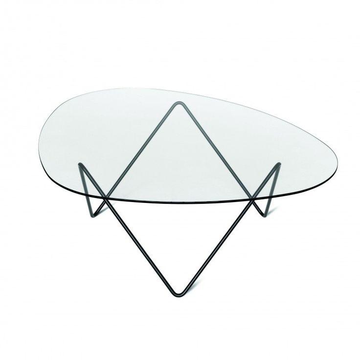 Gubi - Pedrera Table Tisch - transparent/Gestell schwarz/106x86x38cm 609€