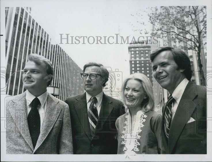 1976 Press Photo Tom Brokaw/TV Journalist/Tom Pettit/Catherine MacKin