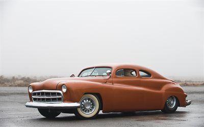 Scarica sfondi hot rod, ford, costom, 1941, parafango estensioni, coupe