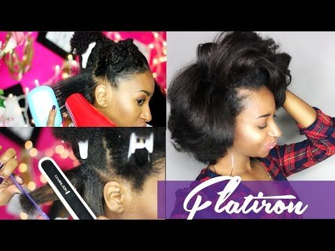 NATURAL HAIR WASH, BLOW OUT, & FLAT IRON STRAIGHTENING CURLY HAIR ...