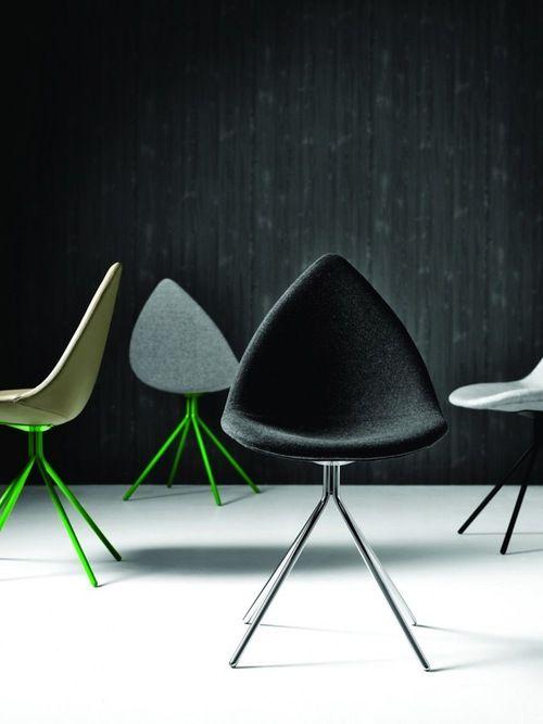 Beautiful chairs designed by Karim Rashid's Ottawa Collection via soshallwork.com