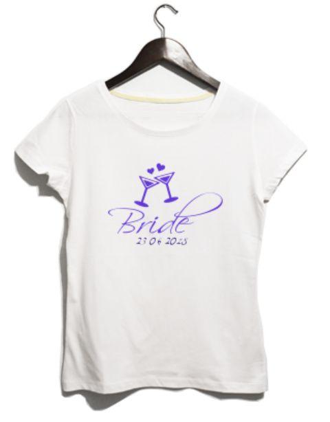 The Bride kişiselleştirilebilir bekarlığa veda partisi tişört