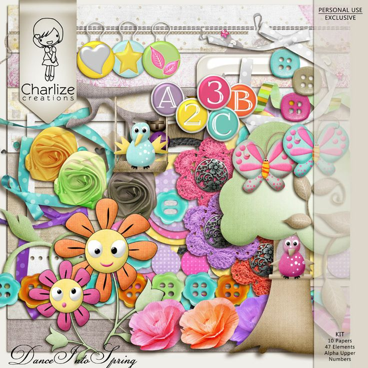 Oscraps :: Shop by Designer :: Charlize Creations :: Dance Into Spring Kit