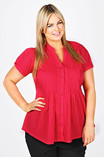 Fashion Bug Plus Size Womens Shirt With Lace Trim And Pleat Detail www.fashionbug.us #PlusSize #FashionBug #Top