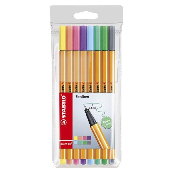 Värikynät Fineliner Stabilo Point 88 Shades of Pastel 8-pakkaus