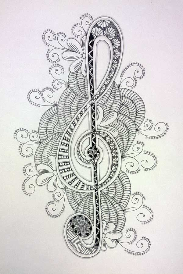 Flower Zentangles | would like to share another Zentangle picture; this time with a ...