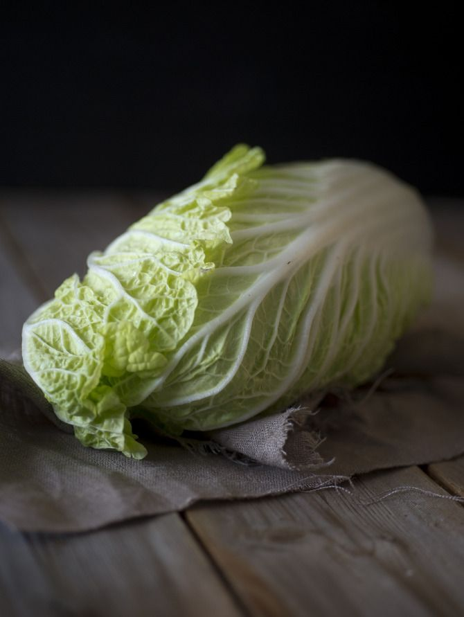 Chinese cabbage. Styling: Hege Jørgensen. Photo: Thor Brødreskift.