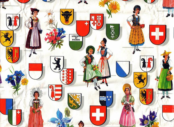 Swiss wrapping paper
