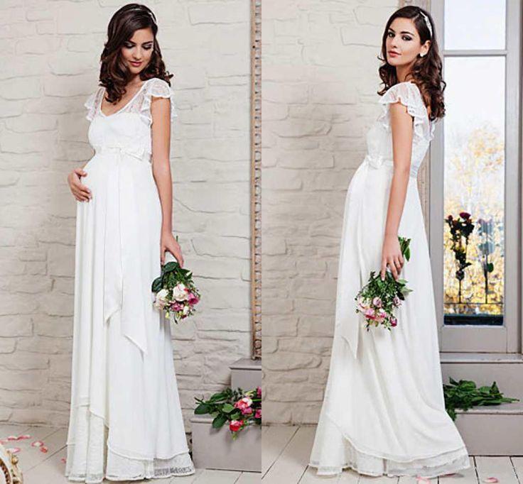 2015 Свадебные платья для беременных на 6 месяцев