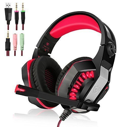 Headphones PS4 Gaming Headset Mic Sound Clarity PlayStation 4 Xbox One PC Mac #HeadphonesPS4GamingHeadset